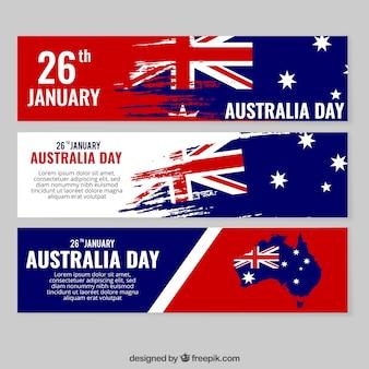 Banners abstratos del día de australia