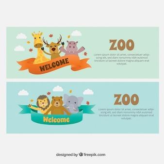 Banners de animales adorables