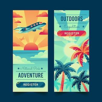 Banners de aventuras detallados