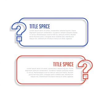 Banners de ayuda y soporte web de estilo de línea