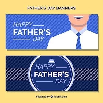 Banners azules para el día del padre