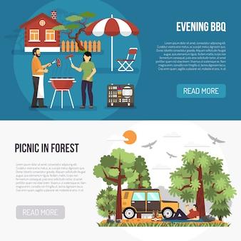 Banners de barbacoa y picnic