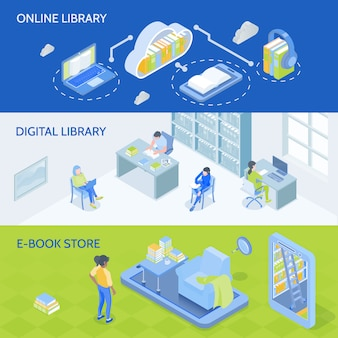 Banners de bibliotecas en línea