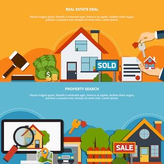 Banners de bienes raíces