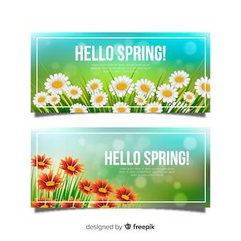 Banners de bienvenida a la primavera
