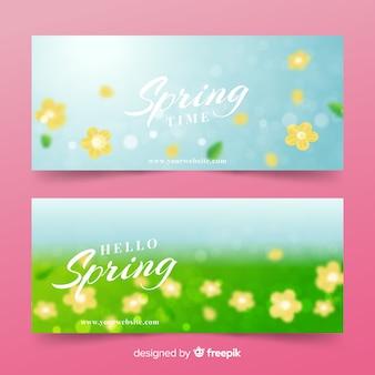 Banners de bienvenida primavera