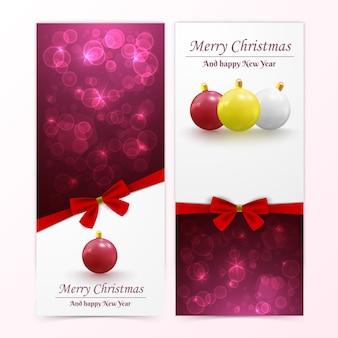Banners de bolas de navidad