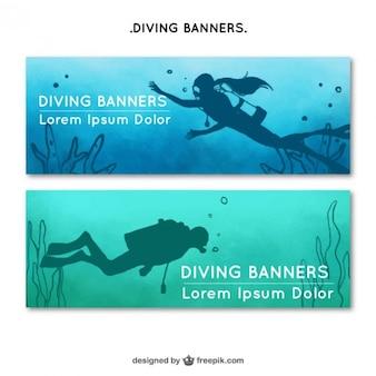 Banners de buceadores