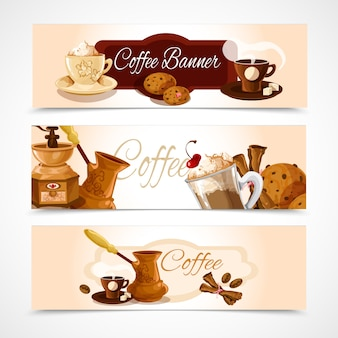 Banners de café horizontales