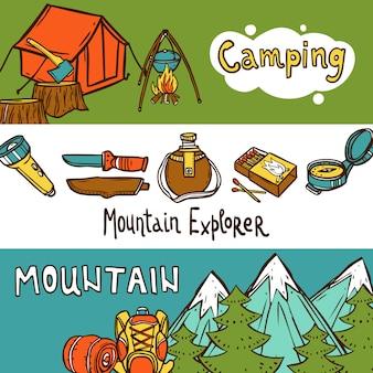 Banners de camping horizontal