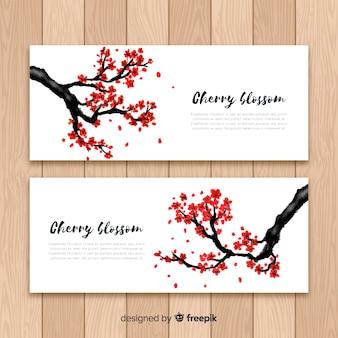 Banners de cerezo en flor