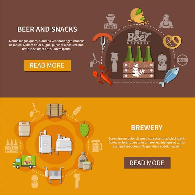 Banners de cerveza plana