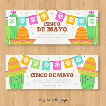 Banners del cinco de mayo