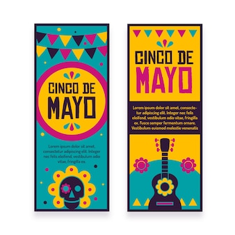 Banners de cinco de mayo