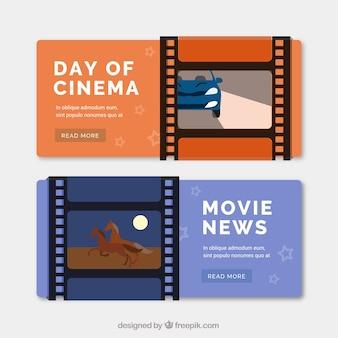 Banners de cine con fotogramas