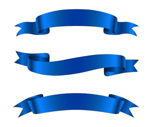 Banners de cinta azul