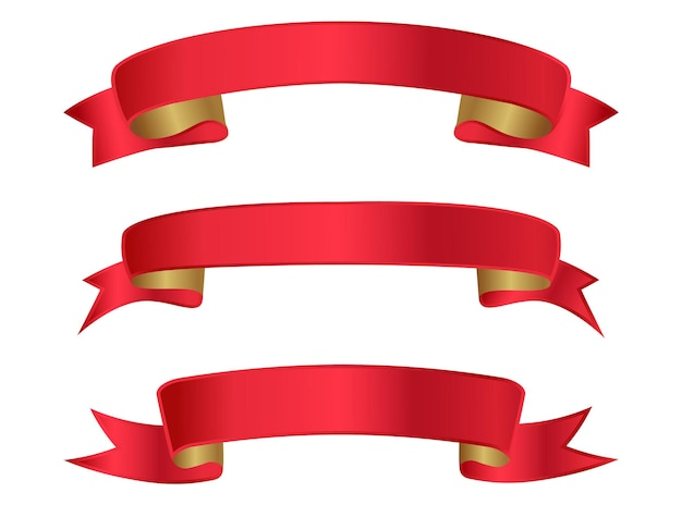 Banners de cinta roja elegante