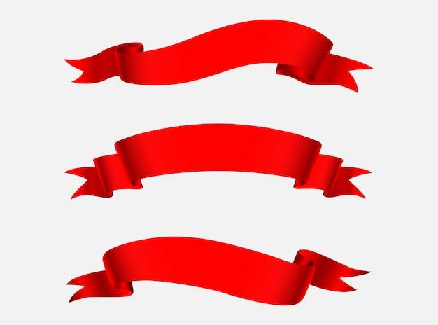 Banners de cinta roja