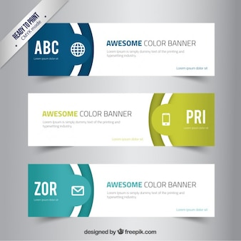 Banners de colores impresionantes