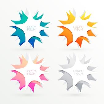 Banners coloridos abstractos con espacio de texto