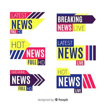 Banners coloridos de últimas noticias