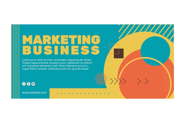 Banners comerciales de marketing