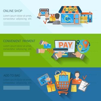 Banners de comercio electrónico de compras