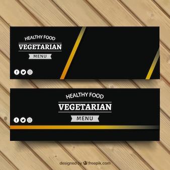 Banners de comida vegetariana