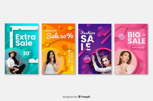 Banners de compra de moda