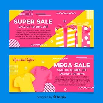 Banners de compras