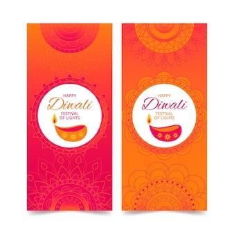 Banners del concepto de diwali