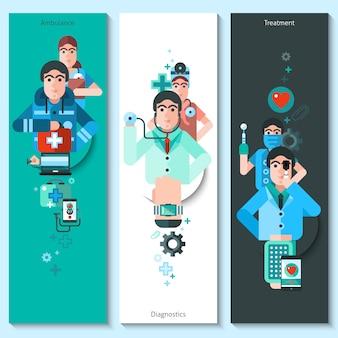 Banners conjunto de caracteres del doctor