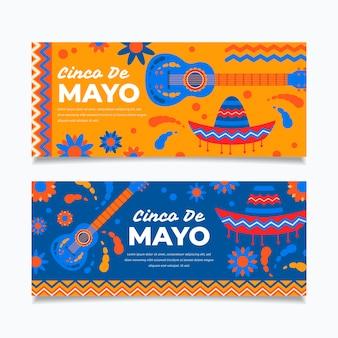 Banners creativos del cinco de mayo