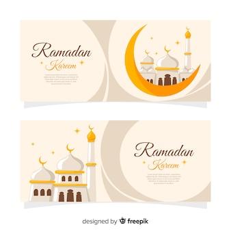 Banners creativos de ramadán