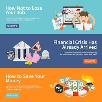 Banners de crisis económica