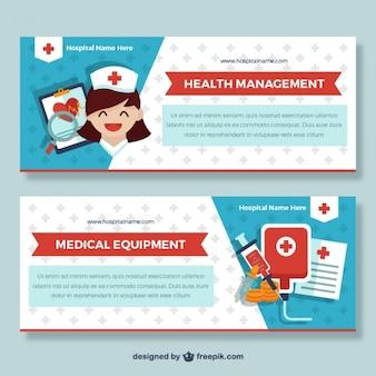 Banners de cuidados médicos