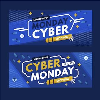 Banners de cyber monday