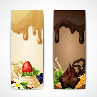 Banners de chocolate vertical