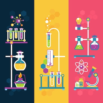 Banners de diseño de química