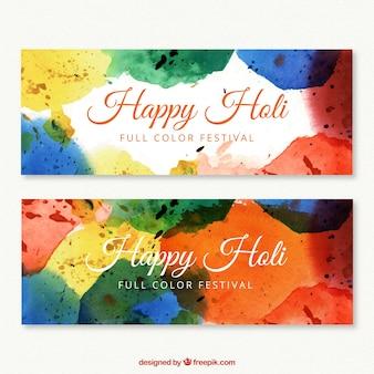 Banners de feliz festival holi