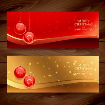 Banners de feliz navidad