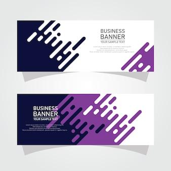 Banners de negocios de formas abstractas