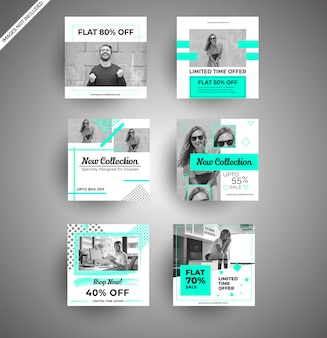 Banners de redes sociales para marketing digital