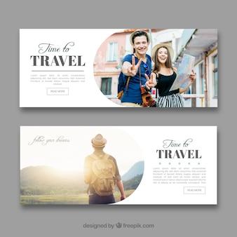 Banners de viaje con fotografía