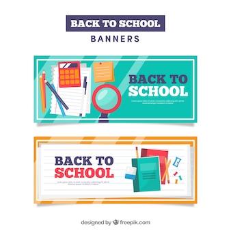 Banners de vuelta al cole modernos