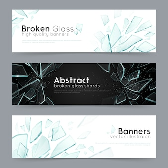 Banners decorativos de vidrio roto 3