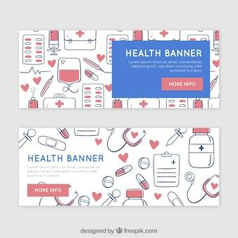 Banners del día de la salud