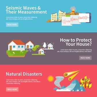 Banners de desastres naturales