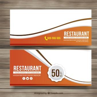 Banners de descuento de delicioso menú