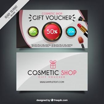 Banners de descuento de tienda de cosméticos